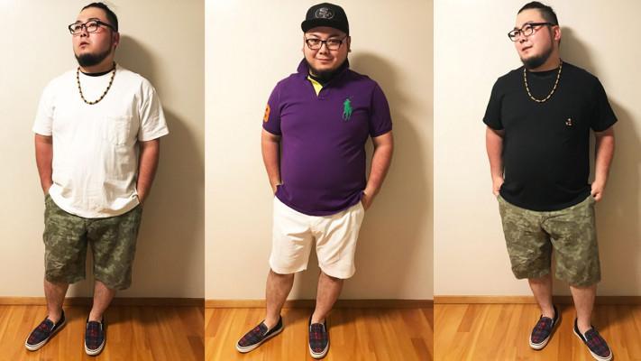 ぽっちゃり男子の春夏コーデ!「清潔感」を与えるTシャツ×ショートパンツの着こなし術