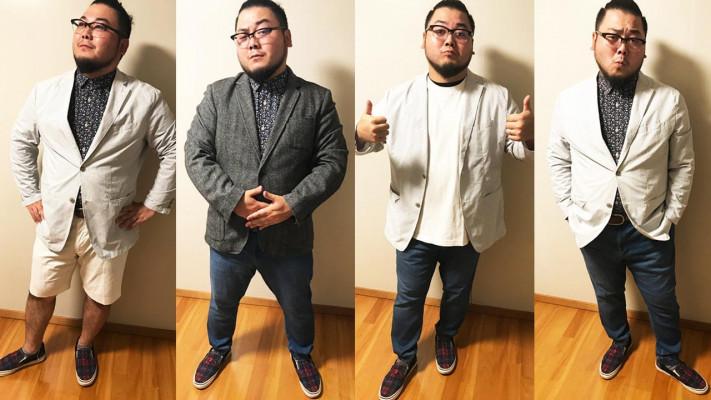 おデブ男子の秋ファッション!ポイント1つでOKなジャケットの着こなし