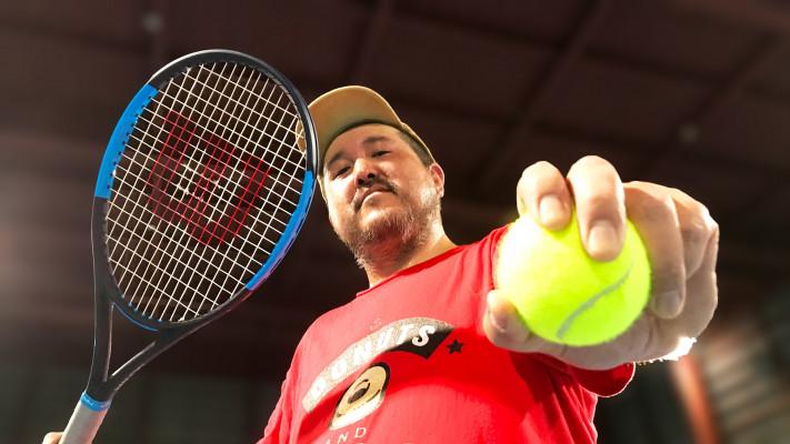 100kgのぽっちゃりメンズがテニススクールに体験しに行ってみた!