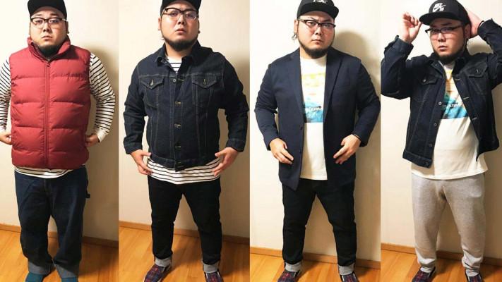 ジャストサイズで着太りしない!おデブ男子秋服コーディネート